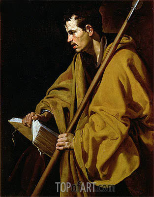 The Apostle St. Thomas, c.1619/20 | Velazquez | Painting Reproduction