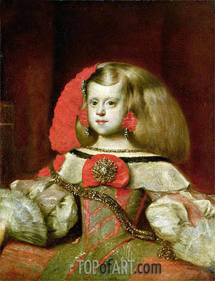 Portrait of the Infanta Margarita, Undated | Velazquez | Painting Reproduction