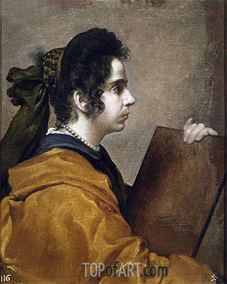 Juana Pacheco, Wife of the Artist as a Sibyl, c.1631   Velazquez   Painting Reproduction