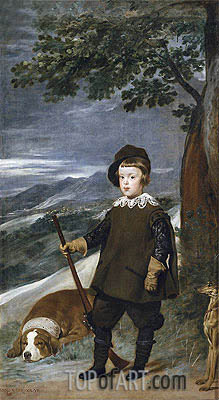 Prince Baltasar Carlos as a Hunter, c.1635/36 | Velazquez | Painting Reproduction