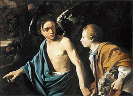 Tobias and the Angel, Undated by Dirck van Baburen | Painting Reproduction