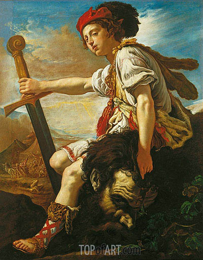 David with the Head of Goliath, c.1620 | Domenico Fetti | Painting Reproduction