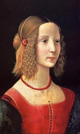 Portait Of A Girl, c.1490 by Ghirlandaio | Painting Reproduction