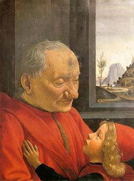 An Old Man and His Grandson, c.1490 by Ghirlandaio | Painting Reproduction