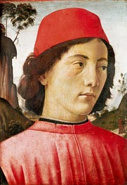 Portrait of a Young Man, c.1477/78 by Ghirlandaio | Painting Reproduction