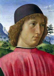 Portrait of a Young Man in Red, c.1480/90 by Ghirlandaio | Painting Reproduction