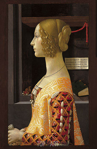 Portrait of Giovanna Tornabuoni, 1488 | Ghirlandaio | Painting Reproduction