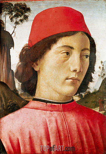 Portrait of a Young Man, c.1477/78 | Ghirlandaio | Gemälde Reproduktion