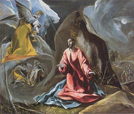 The Agony in the Garden, c. 1590/95 by El Greco | Painting Reproduction