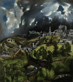 View of Toledo, c.1599/00 by El Greco | Painting Reproduction