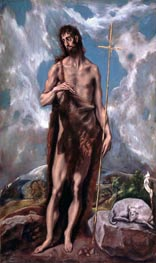 St John the Baptist, c.1600 by El Greco | Painting Reproduction