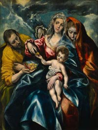 The Holy Family with Mary Magdalen, c.1590/95 by El Greco | Painting Reproduction