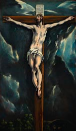 Christ on the Cross, c.1600/10 by El Greco | Painting Reproduction