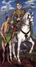 Saint Martin and the Beggar, c.1597/99 by El Greco | Painting Reproduction