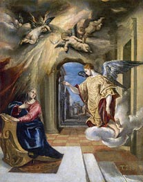 The Annunciation | El Greco | Painting Reproduction
