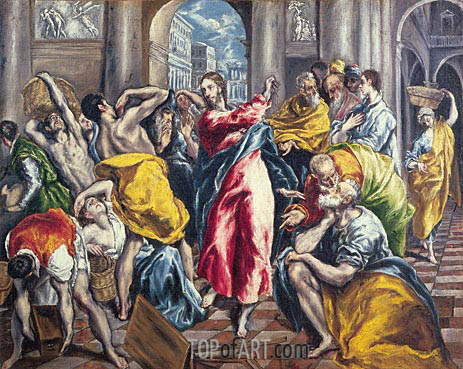 The Purification of the Temple, c.1600 | El Greco | Painting Reproduction