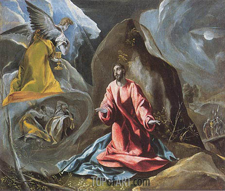 The Agony in the Garden, c. 1590/95 | El Greco | Painting Reproduction