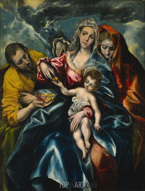 The Holy Family with Mary Magdalen, c.1590/95 | El Greco | Gemälde Reproduktion