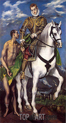 Saint Martin and the Beggar, c.1597/99 | El Greco | Painting Reproduction