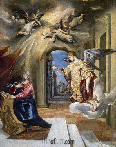 The Annunciation, c.1570 | El Greco | Painting Reproduction