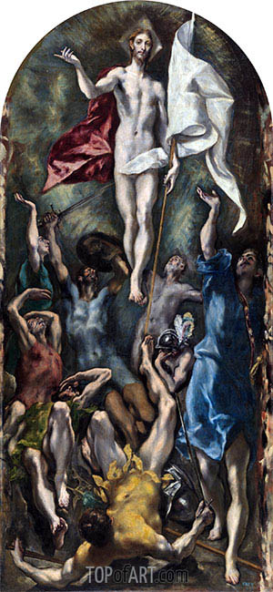 The Resurrection, c.1597/00 | El Greco | Painting Reproduction
