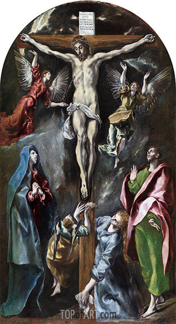 The Crucifixion, c.1597/00 | El Greco | Painting Reproduction
