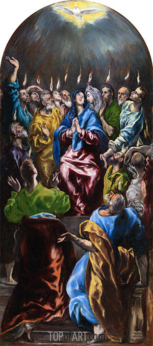 Pentecost, c.1600 | El Greco | Painting Reproduction
