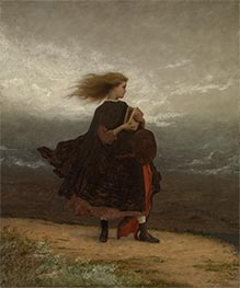 The Girl I Left Behind Me, c.1872 by Eastman Johnson | Painting Reproduction