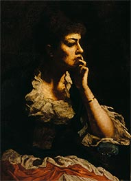 Portrait of Mrs. Eastman Johnson, c.1888 by Eastman Johnson | Painting Reproduction