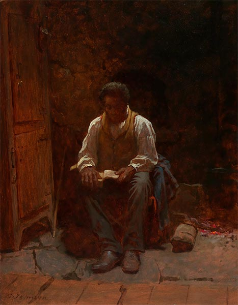 The Lord Is My Shepherd, 1863   Eastman Johnson   Painting Reproduction