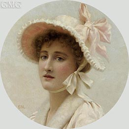 The Pink Bonnet, undated von Blair Leighton | Gemälde-Reproduktion