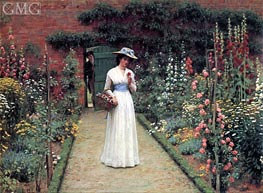 Lady in a Garden, undated von Blair Leighton | Gemälde-Reproduktion