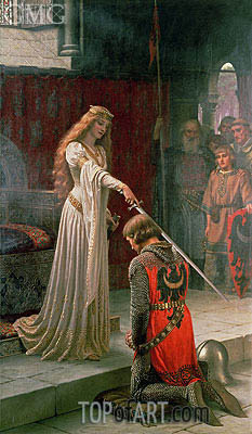 The Accolade, 1901 | Blair Leighton | Gemälde Reproduktion