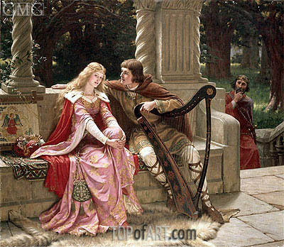 Tristan and Isolde, 1902 | Blair Leighton | Painting Reproduction