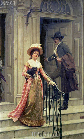 My Next-Door Neighbour, 1894 | Blair Leighton | Painting Reproduction