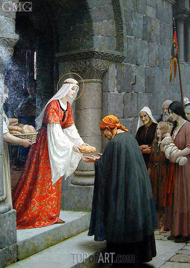The Charity of Saint Elizabeth of Hungary, 1915 | Blair Leighton | Painting Reproduction