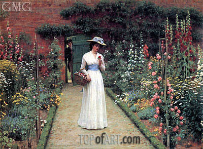 Lady in a Garden, undated | Blair Leighton | Gemälde Reproduktion