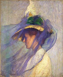The Blue Veil | Edmund Charles Tarbell | Painting Reproduction