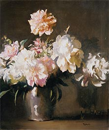 Vase of Peonies, c.1925 by Edmund Charles Tarbell | Painting Reproduction