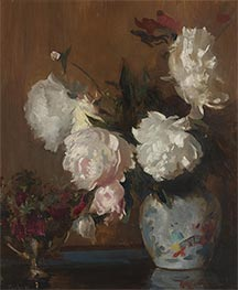 Peonies, c.1925 by Edmund Charles Tarbell | Painting Reproduction