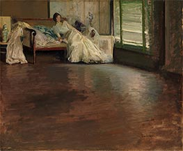 Across the Room, c.1899 by Edmund Charles Tarbell | Painting Reproduction