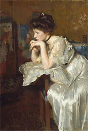 Reverie (Katharine Finn), 1913 by Edmund Charles Tarbell | Painting Reproduction