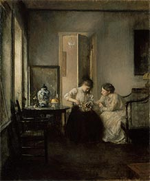 New England Interior, 1906 by Edmund Charles Tarbell | Painting Reproduction