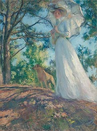 On Bos'n's Hill, 1901 by Edmund Charles Tarbell | Painting Reproduction