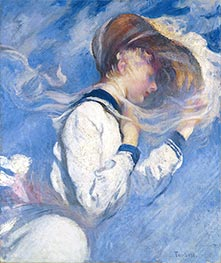 Summer Breeze, 1904 by Edmund Charles Tarbell | Painting Reproduction