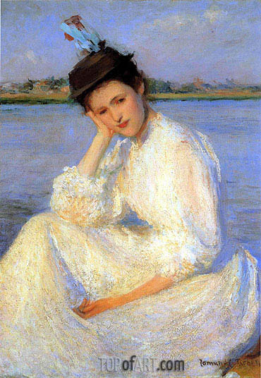 Portrait of a Lady, Undated | Edmund Charles Tarbell | Painting Reproduction