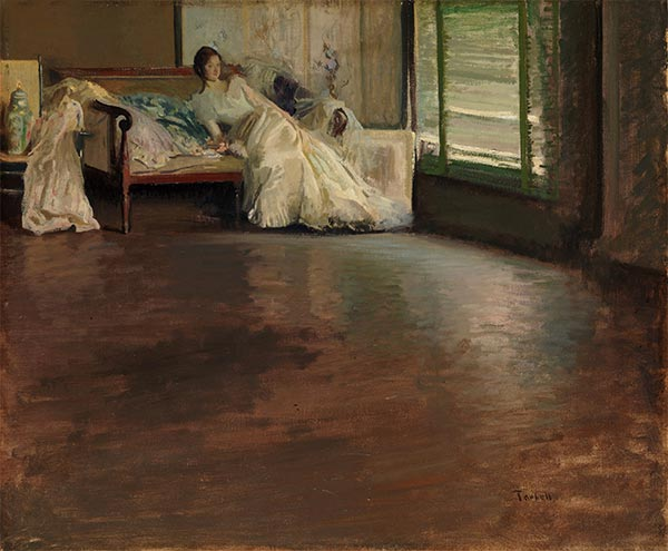 Across the Room, c.1899 | Edmund Charles Tarbell | Painting Reproduction