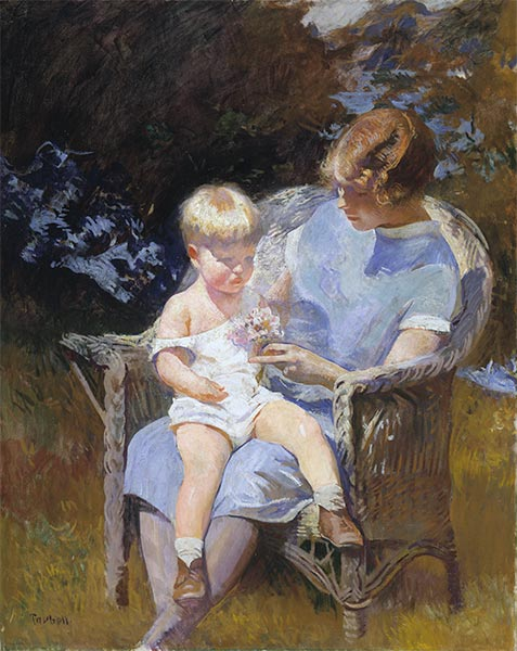 Marjorie and Little Edmund, 1928 | Edmund Charles Tarbell | Painting Reproduction