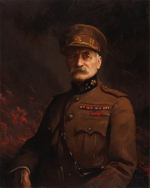 General Georges Leman, Commander of the Fortified Town of Liege, c.1919/20 | Edmund Charles Tarbell | Painting Reproduction
