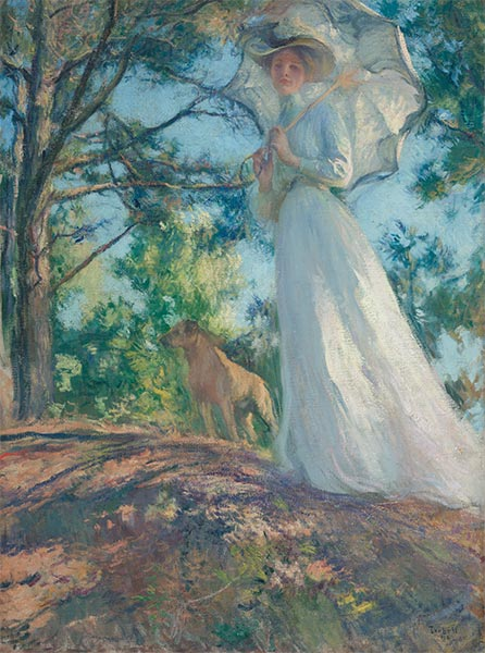 On Bos'n's Hill, 1901 | Edmund Charles Tarbell | Painting Reproduction